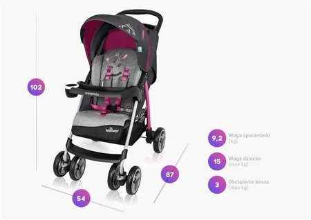 Baby Design Walker Lite Wózek Spacerowy